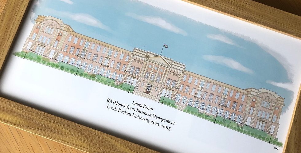 Leeds Beckett University Graduation print - James Graham building