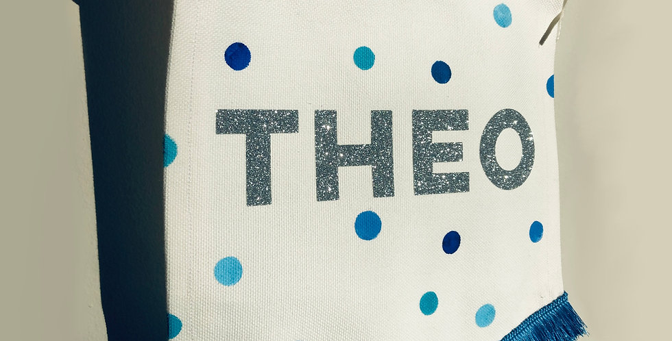 Blue Polka Dot banner