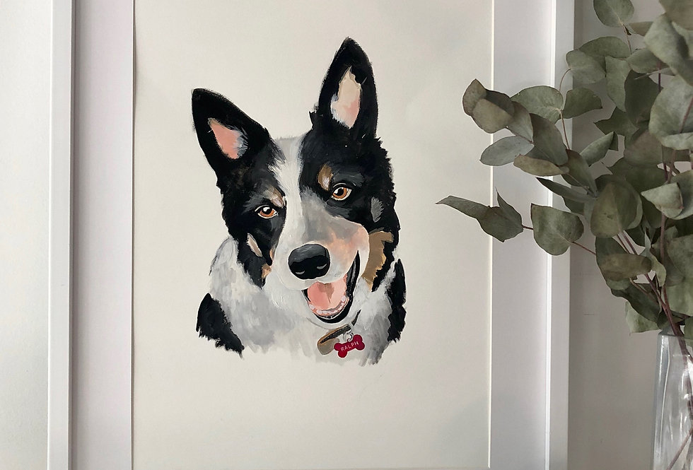 Personalised Pet Portrait - Small (A5) - 1 pet