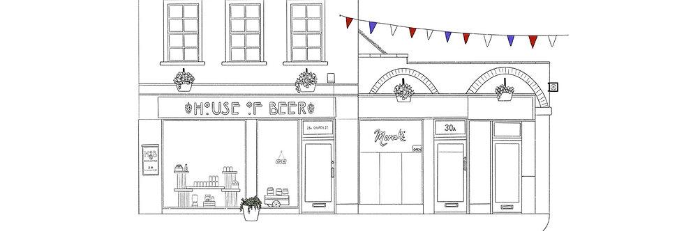 Church Street no.2, Ashbourne - black and white print