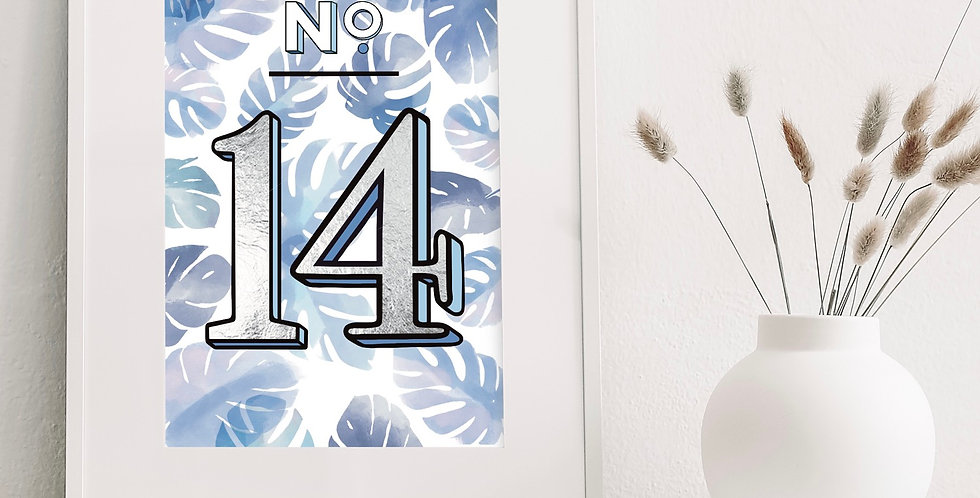 House number foiled print