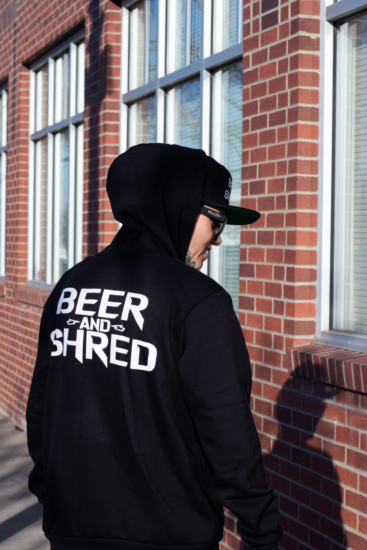 Beer And Shred Screen Printed Logo.