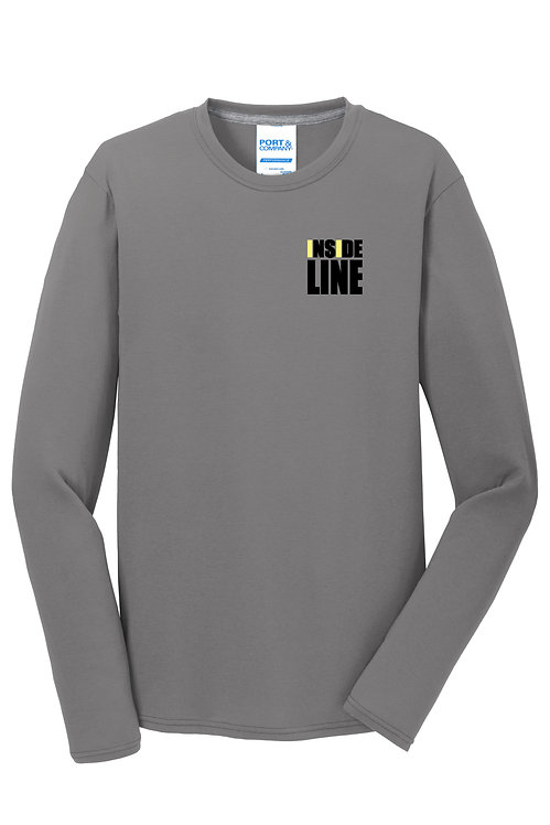 Team Broke Off X Inside Line Premium L/S Tee. (Medium Grey)