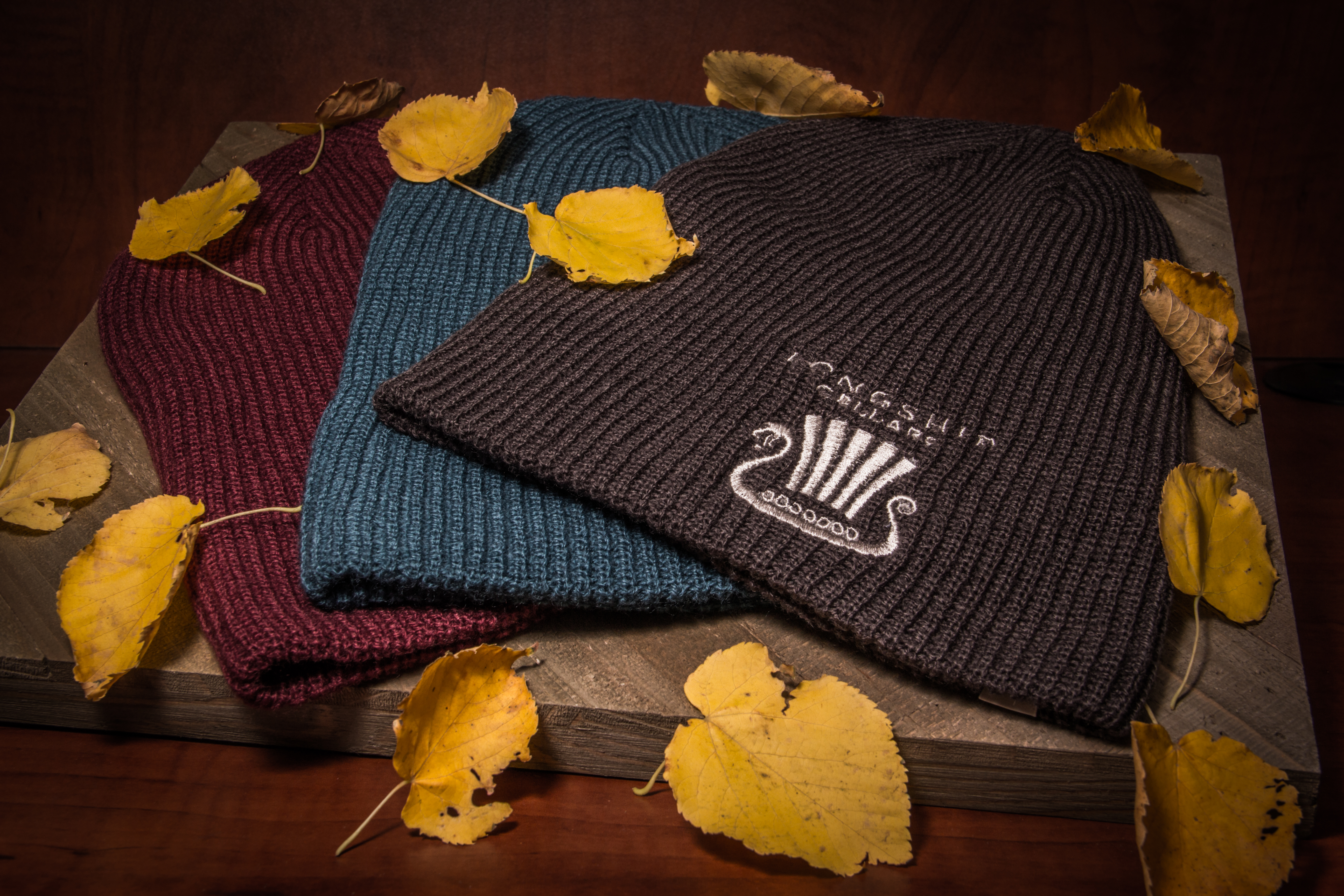 Long Ship Cellars Embroidere Beanies