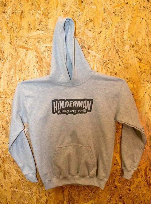 O.G. Logo Youth Hoodie. (Sports Grey)