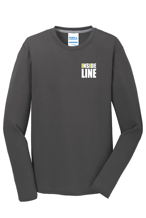 Team Broke Off X Inside Line Premium L/S Tee. (Charcoal)