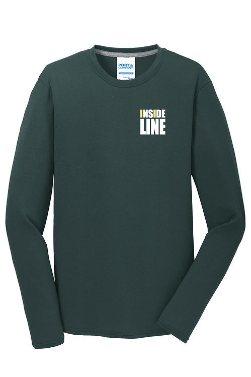 Team Broke Off X Inside Line Premium L/S Tee. (Dark Green)