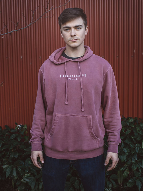 Longboarding Is A Vibe Pullover Hoodie (Brick Red)