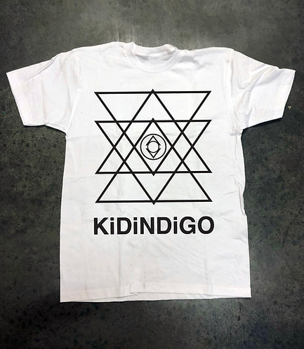 Kid Indigo Tee  (White/Black)