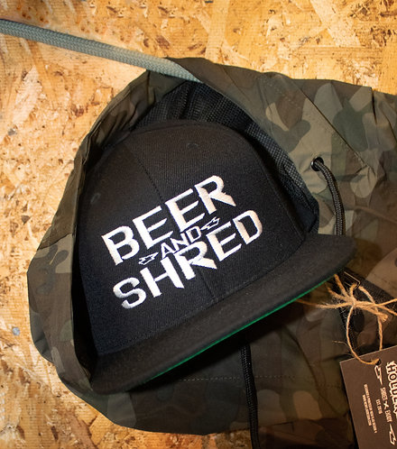 Beer And Shred Snap-back Hats. (Black)