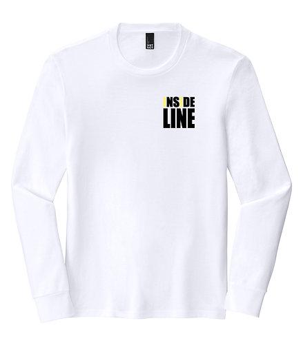 Team Broke Off X Inside Line Premium L/S Tee. (White)