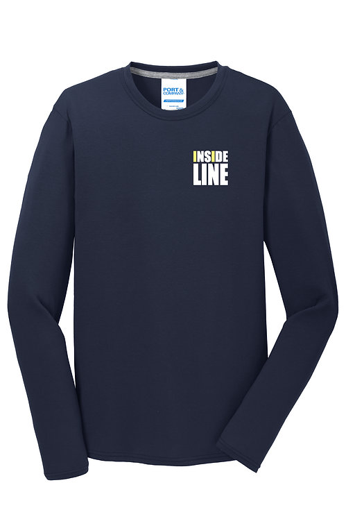 Team Broke Off X Inside Line Premium L/S Tee. (Deep Navy)