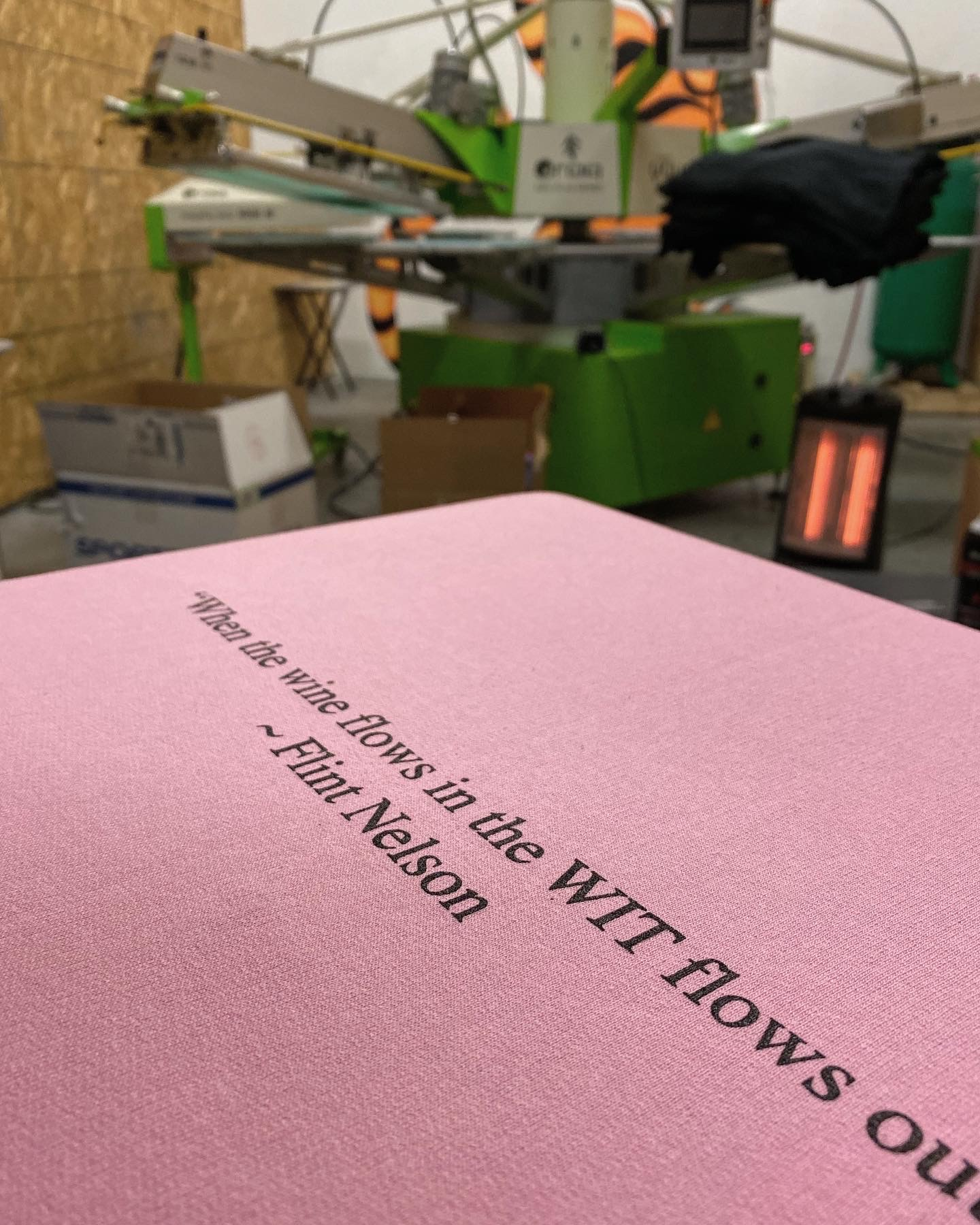 Wit Cellars Screen Printing.