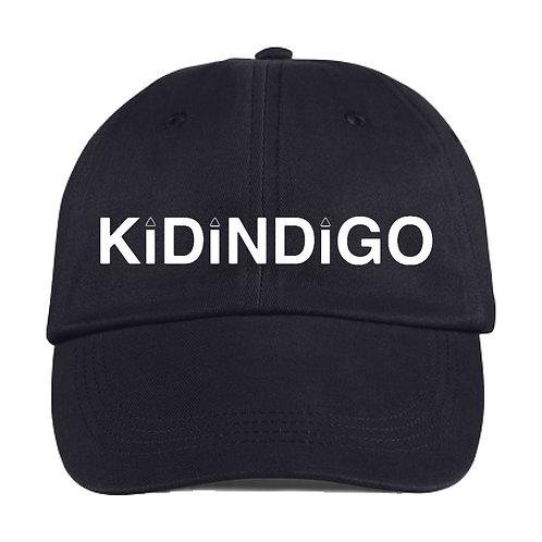 Kid Indigo Logo Dad-Hat (Black/White)