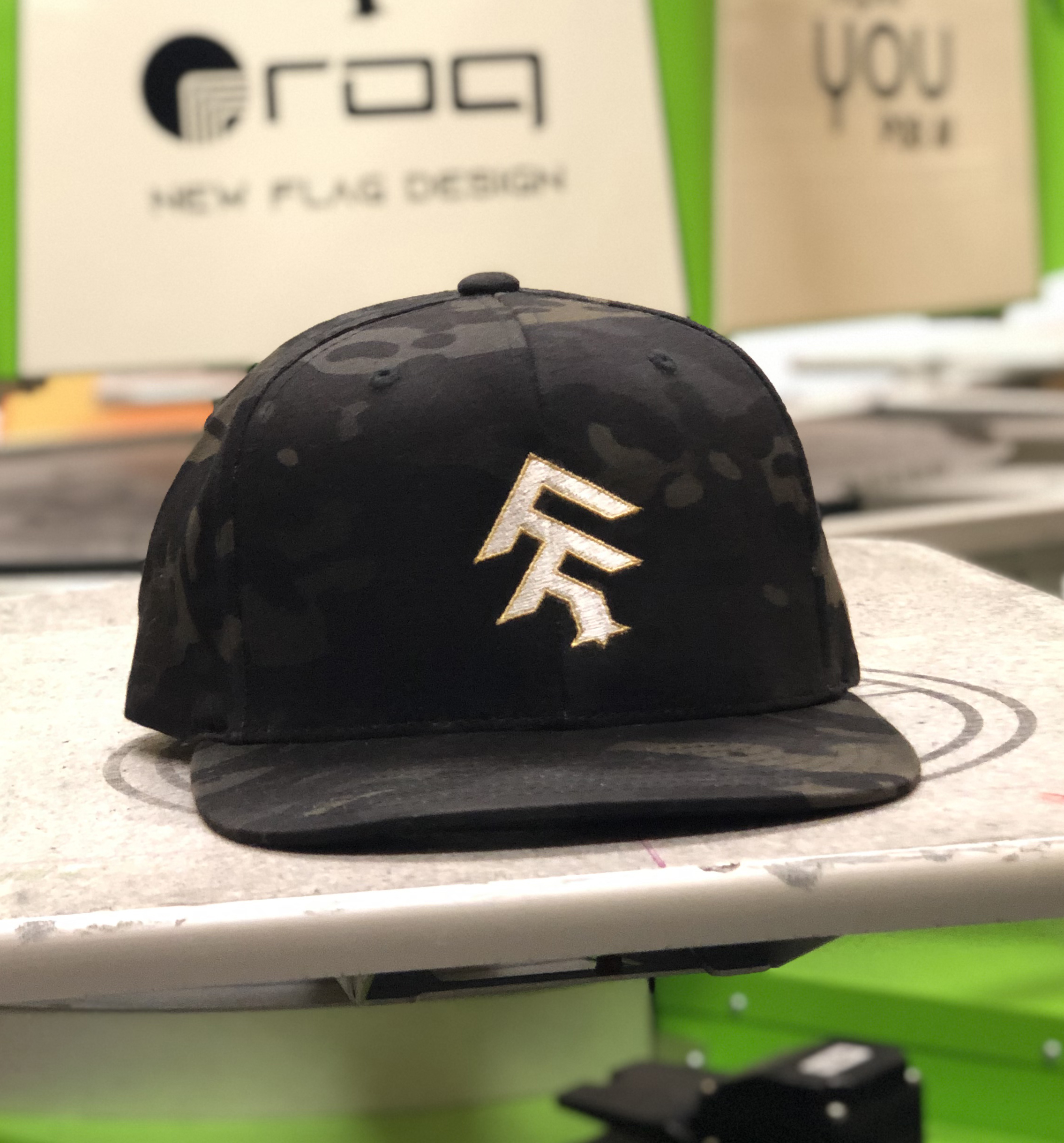 NFD Camo Hat Embroidery.