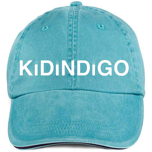 Kid Indigo Logo Dad-Hat (Aqua/White)