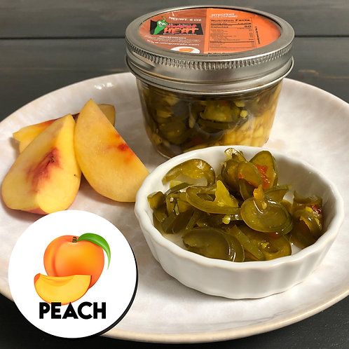 MR. JALEP'S GOURMET CANDIED JALEPENOS with Fresh Peaches 8oz
