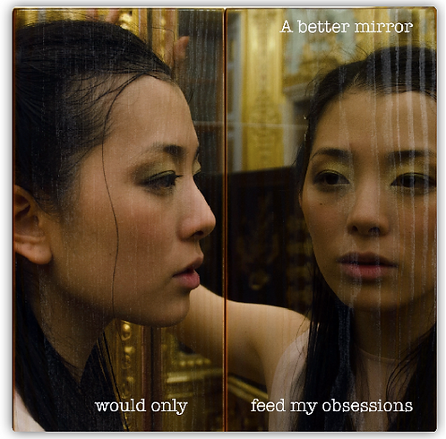 """""""A better mirror would only feed my obsessions"""""""