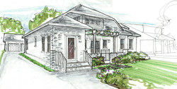 front elevation sketch