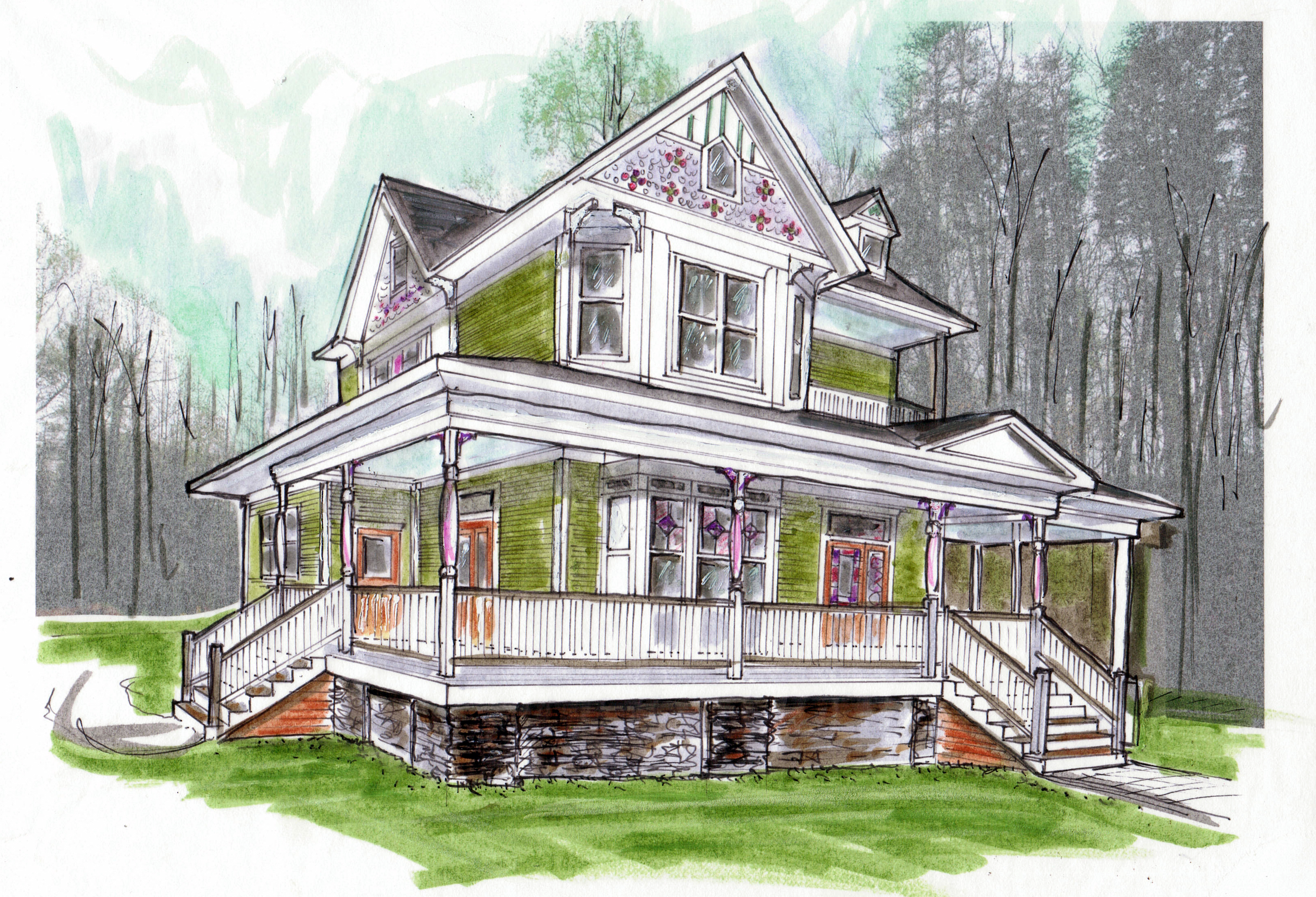 120326 exterior elevation sketch for parade