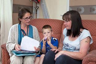 Paediatric SLT with patient