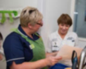 Dietitian with nurse
