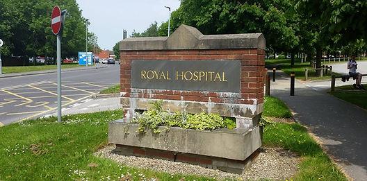 Hospital entrance, Chesterfield Royal Hospital