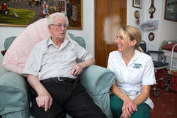 Occupational Therapist with patient