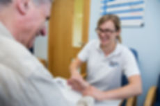 Physiotherapist with patient at Chesterfield Royal