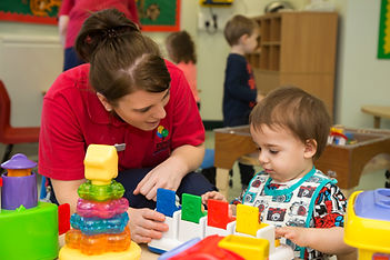 Child in Den nursery, Chesterfield Royal