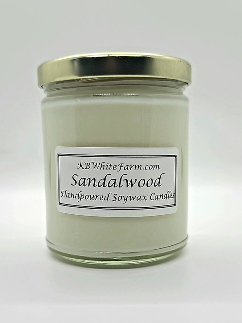 Sandalwood Soywax Candle 9oz.