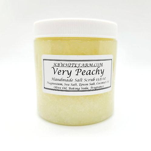 Very Peachy Salt Scrub 13.5 oz