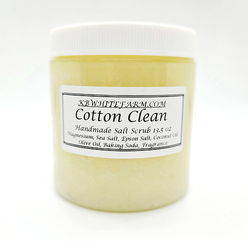 Cotton Clean Salt Scrub 13.5 oz.