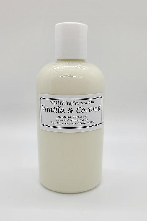 Vanilla & Coconut Lotion Small 8oz.