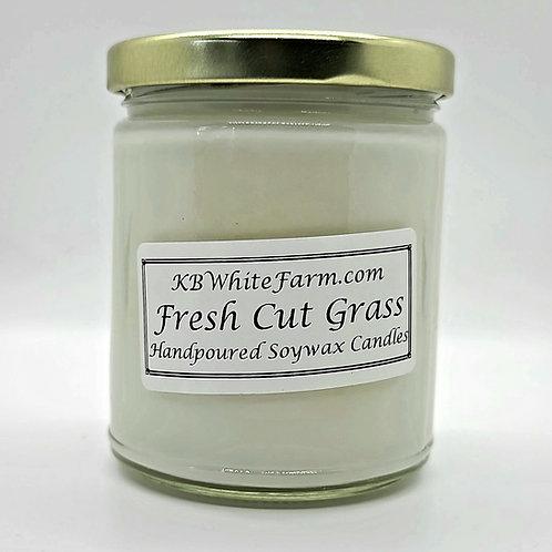 Fresh Cut Grass Soywax Candle 9oz.