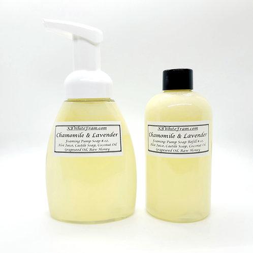 Chamomile & Lavender Foaming Pump Soap  8oz.
