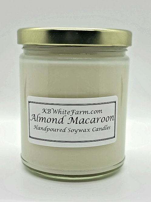 Almond Macaroon Soywax Candle 9oz.