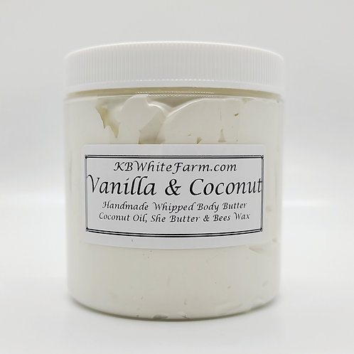 Vanilla  & Coconut Whipped Body Butter