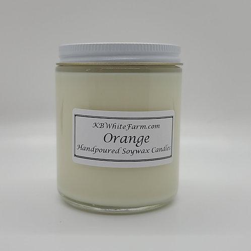 Orange Soywax Candle 9oz.
