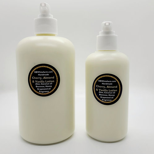 Cherry, Almond and Vanilla Lotion small 8oz.