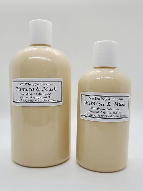 Mimosa & Musk Lotion Small 8oz.
