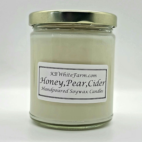 Honey, Pear Cider Soywax Candle 9oz.
