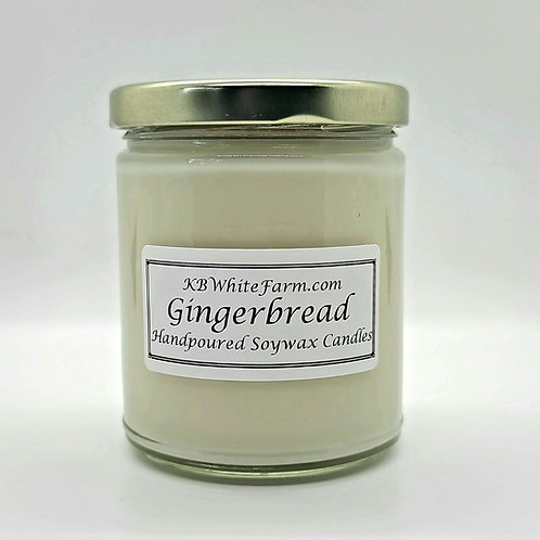 Gingerbread Soywax Candle 9oz.