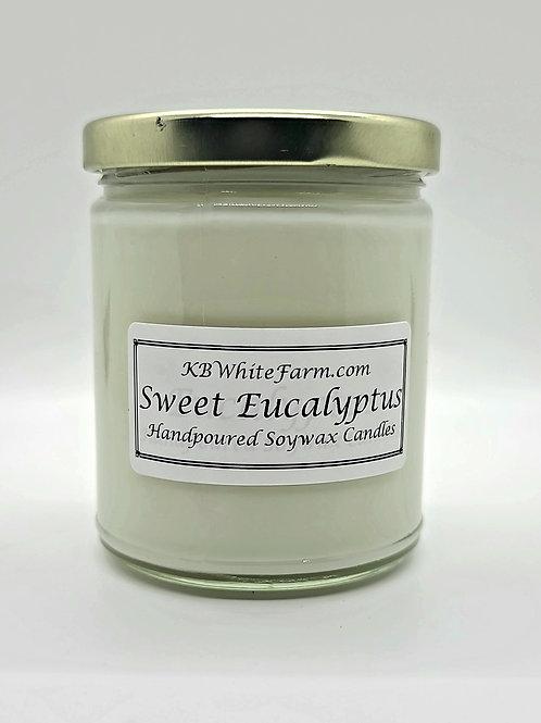 Sweet Eucalyptus Soywax Candle 9oz.