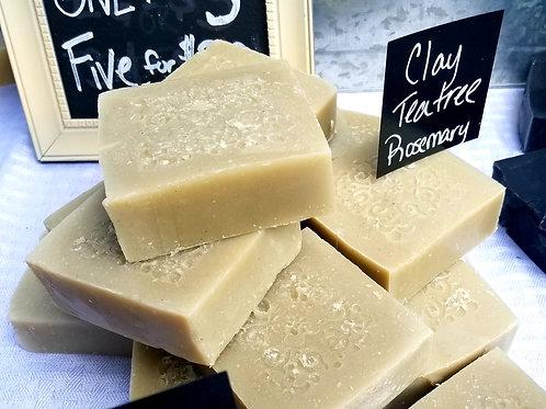 Clay, Tea Tree and Rosemary Soap