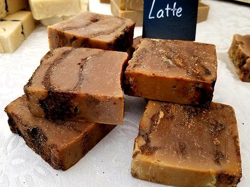 Espresso Latte Scrub Large Bar Soap