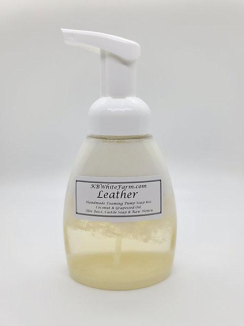 Leather Foaming Pump Soap 8oz.