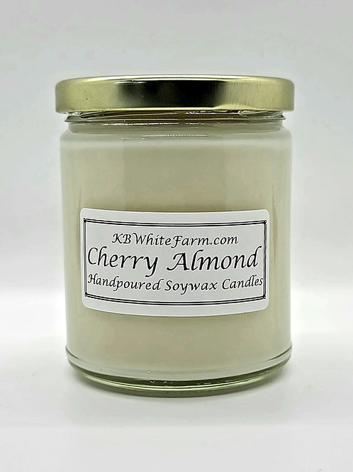 Cherry Almond Soywax Candle 9oz.