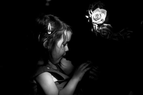 la petite fille et la rose