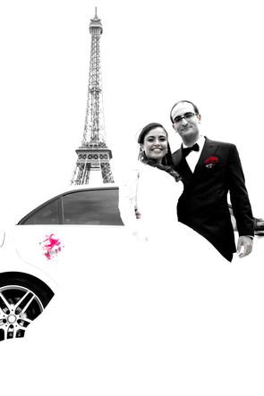 Mariés à la tour Eiffeil